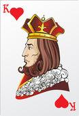 König der Herzen. Deck romantisches Grafikkarten