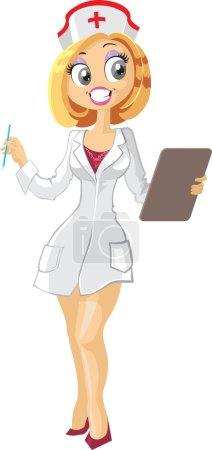 Illustration for Medical nurse - Royalty Free Image