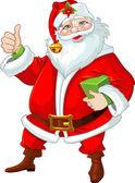Cute Santa Claus with gift