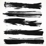 Realistic black gouache on paper texture strokes s...