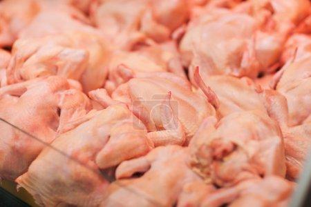 Fresh chickens in supermarket