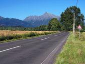 Krivan Gipfel und Straße nach Tatra im Sommer