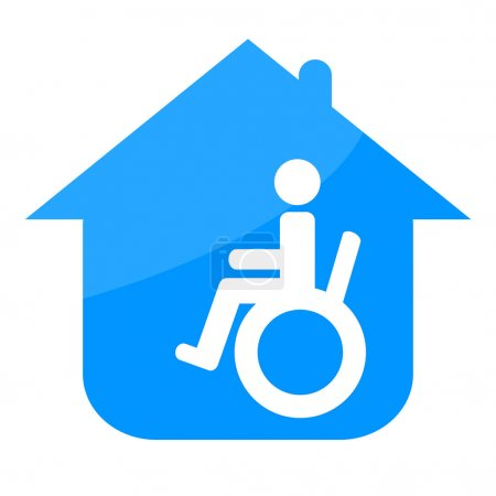 Photo for Handicap in the house sign isolated on white background - Royalty Free Image