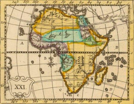 Carte antique de l'Afrique .