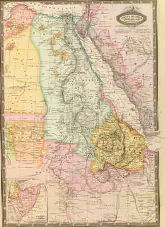 antike Karte von Nordostafrika