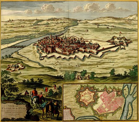 Antique map of Plan of the fortified city of Casale Monferrato ,