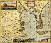 Antique map of Gibraltar,