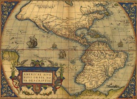 Carte antique de l'Amérique du Nord et du Sud