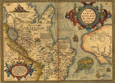 Carte antique de Tartre, Chine et Japon