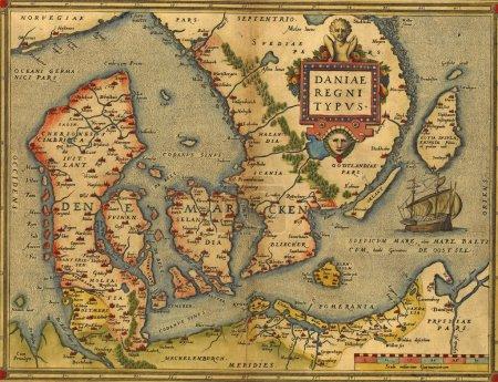 Carte antique de Danemark