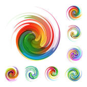 Colorful abstract icon set Dynamic flow illustration Swirl collection
