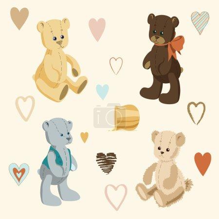 Four Cute Teddy Bears
