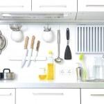 Modern kitchen at home with kitchenware...