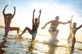 teens papty on sea resort