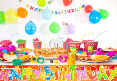 Photo for Table set up for a child's party - Royalty Free Image
