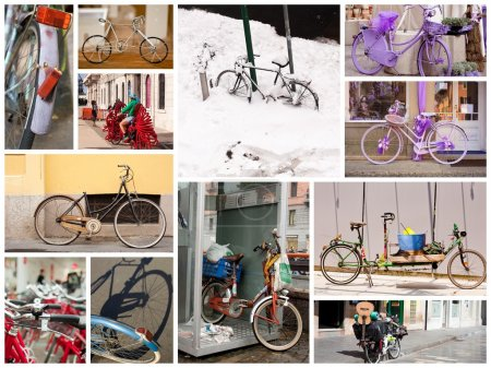 Bicycles collage