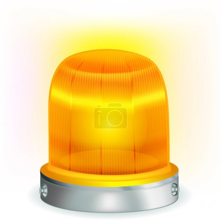 Orange flashing light.