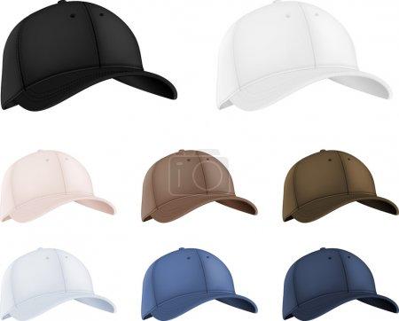 Baseball hats template set.