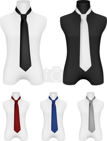Necktie on mannequin template.