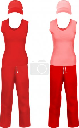 Blank sport suits template.