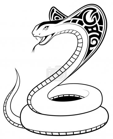 Vector Snake, tribal tattoo