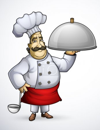 Chef with a signature dishes