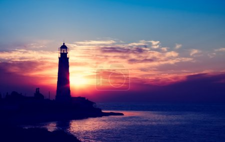Lighthouse on sunset