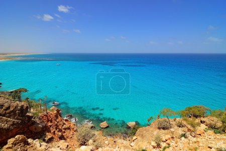 Indian ocean, view from Socotra island