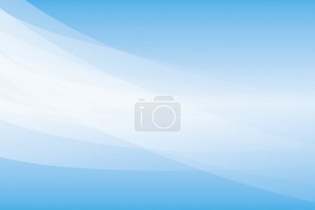 Illustration for White curved lines on blue background - Royalty Free Image