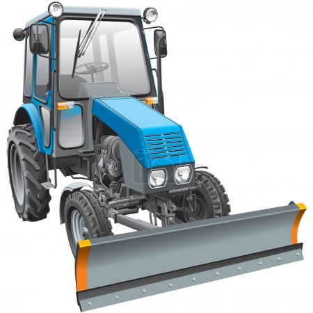 blue snow fighter tractor