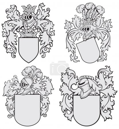 Set of aristocratic emblems No4