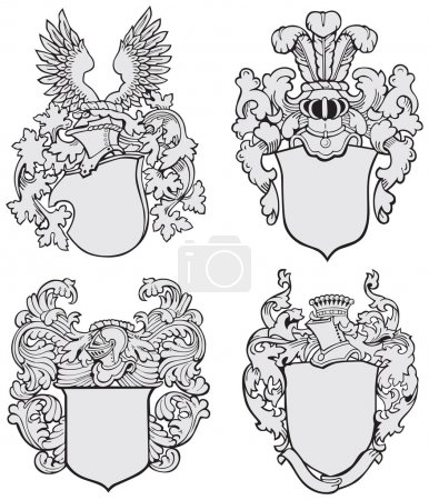 Set of aristocratic emblems No3