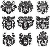 Set of heraldic silhouettes No1