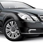 Black luxury coupe car, isolated on white backgrou...