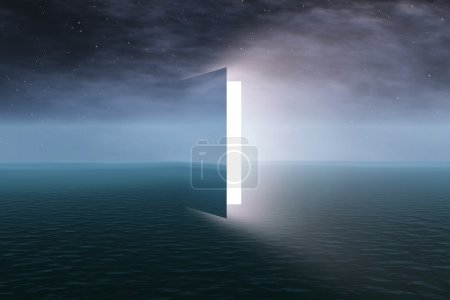 Photo for Door to heaven with stars - Royalty Free Image