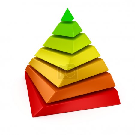 Photo for Multicolored layered pyramid on the white background - Royalty Free Image