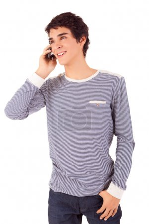 Young boy at the phone