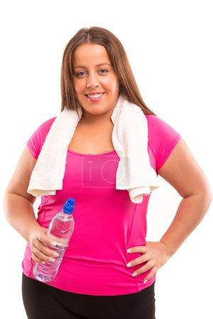 Large Woman exercising