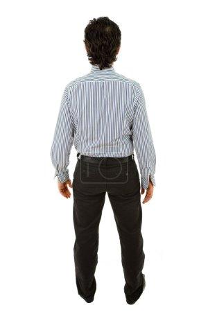 Photo pour Entreprise jeune homme complet du corps de l'arrière - image libre de droit