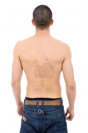 Photo for Young casual man from the back, isolated - Royalty Free Image