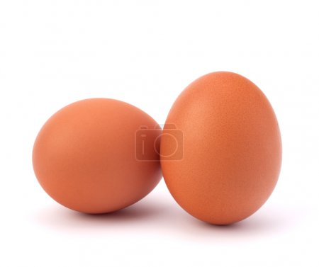 Photo for Two eggs isolated on white background - Royalty Free Image
