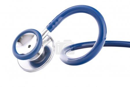 Photo for Medical stethoscope or phonendoscope isolated on white background cutout - Royalty Free Image
