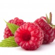 Ripe raspberries isolated on white background cuto...