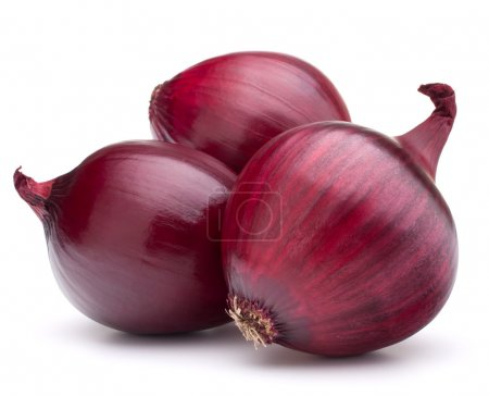 Photo for Red onion bulb isolated on white background cutout - Royalty Free Image