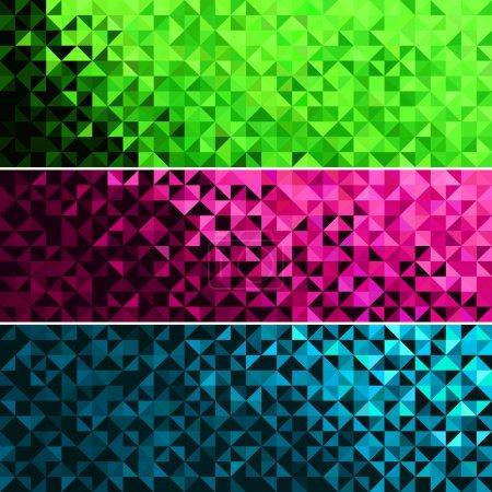 Illustration pour Modèle de bannière de vacances amusant lumineux abstrait. Lumineux étincelle bleu rose vert vecteur fond - image libre de droit