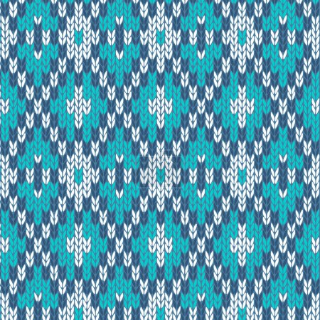Seamless Knitted Pattern. Style Knit woolen jacquard ornament te