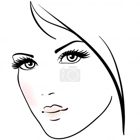 Illustration for Beautiful woman face - Royalty Free Image