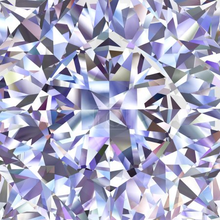 Photo for Diamond geometric pattern of colored brilliant triangles. High resolution 3D image - Royalty Free Image