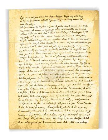 Illustration pour Illustration de l'ancienne lettre vintage (18 siècle) sur fond blanc - image libre de droit
