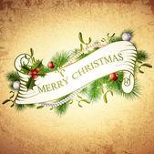 Vintage Merry Christmas Greetings Design